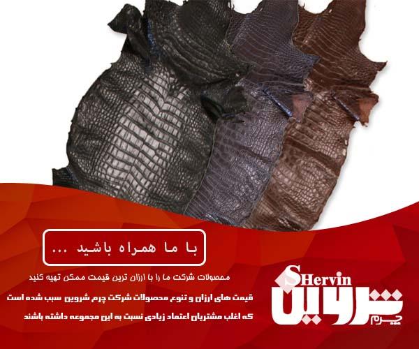 قیمت فروش چرم تمساح در ایران